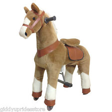 BEIGE Ride-on Giddy Up Horse / Pony. For boys & girls 4-10 (02B)