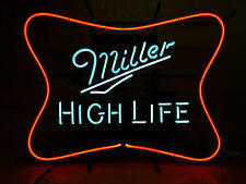 """Miller High Life Neon Sign Soft Cross - 25"""" W x 19"""" H - New 2015 - Free Shipping"""