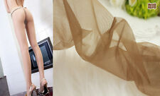 coffee color Women Shiny Glossy Pantyhose Tights 2D Without Cotton Pad CA 03