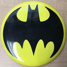 "Huge Batman symbol logo 6"" Inch Pinback Button with easel-back stand Bat-signal"