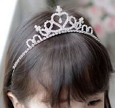 Partito da sera Matrimonio Flower Girl Dress Up Tiara Ragazza Hairband Regalo UK