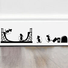 Funny Minkey Mouse skateboard Vinyl Wall sticker Art wall decals home decor