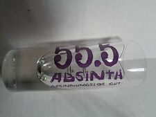 55.5 Absinth German LG Tall Shot Glass Destillerie Dr. Rauch Besinnungslos Gut