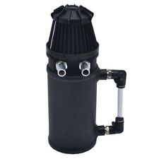 500ML Universal Aluminum Oil Catch Can Tank With Breather Filter Baffled Black