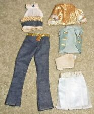 BARBIE DOLL CLOTHES - 6 pc MIX & MATCH BLUE & GOLD CLOTHING