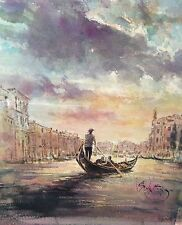 "RARE SUPERB ORIGINAL GORDON KING ""Into Sunlight, Grand Canal, Venice"" PAINTING"