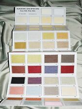 New Faux Silk Satin Dupioni Color Card, Large Card with 54 Real Fabric Swatches