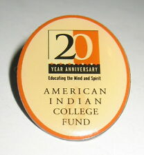 20th Anniversary American Indian College Fund Clutch Back Pin for Donor Sponsor