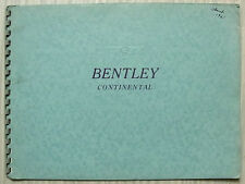 BENTLEY S2 CONTINENTAL LF Sales Brochure c1960 MULLINER Park Ward JAMES YOUNG
