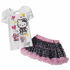 Hello Kitty Poodle Tee & Zebra Scooter Set - Size 6 NWT Girls