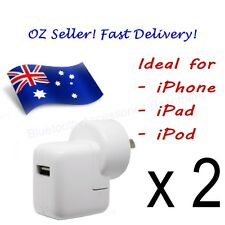 2 x AC Wall Charger for Apple iPhone, iPad & iPod