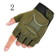 Outdoor Tactical Military Working Half Racing Cycling Finger Fingerless Gloves N