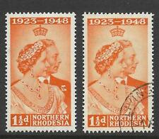 N.RHODESIA, KGV1, 1948 ROYAL SILVER WEDDING, 2 1/2d,  SG 48, FINE MNH/FINE USED
