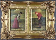 Ancien Tableau Peinture Antique Painting Vintage