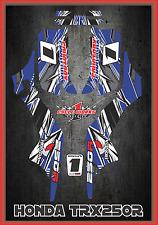 Honda TRX 250R Fourtraxx TRX  SEMI CUSTOM GRAPHICS KIT Detox2