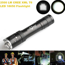 2500 Lumen Zoomable CREE XML T6 LED 18650 Flashlight Torch Lamp Фонарик2016*