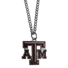 "NCAA Texas A&M Aggies Necklace With Team Pendant 20"" Chain Gameday Jewelry"