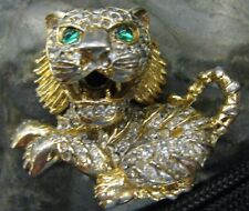 Vintage UNSIGNED KJL or Hattie Carnigie Lion pin