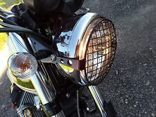Griglia proteggi faro per Moto Guzzi V7 Head Lamp grill Stone Guard