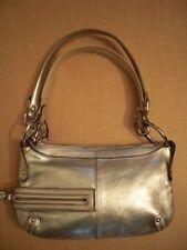 Kenneth Cole Handbag Genuine Metallic Gold Leather Small Shoulder Bag Removable