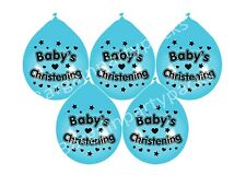 "8 X BABY BOY CHRISTENING BLUE BALLOONS 10"" AIRFILL PARTY DECORATION (BGC)"