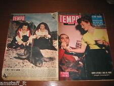 RIVISTA TEMPO 1951/52=ALBERTO LATTUADA=CARLA DEL POGGIO=ETTORE GRANDE=BARRYMORE=