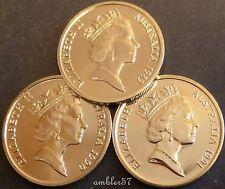 *1989-1991 Australian 10cent coins Unc *