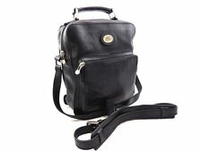 THE BRIDGE *current season* black leather soft messenger bag crossbody shoulder