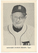 1960s MLB Baseball Photo / Card Charlie Dressen Manager of the Detroit Tigers
