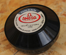 Omega Italian Shaving Cream Jar Eucalyptus Oil Foam Soap Bowl 150ml