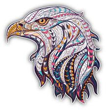 Ornate Eagle Head Car Bumper Sticker Decal 5'' x 5''