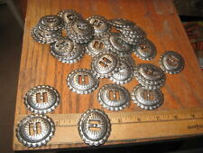 38-- HEAVY SLOT CONCHOS 1 5/8 BY 1 7/8 HEAVY WEIGHT WHOLESALE LOT