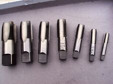"""PipeThread Taps BSP parallel  in 1/8-1/4-3/8-1/2-5/8-3/4-1"""" one each size 7pcs"""