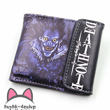 Anime Death Note Ryuuku Leather Wallet Cosplay Ryuuku Purse Two-Fold Purse