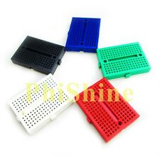 5pcs SYB-170 Mini Breadboard Colorful Breadboard Prototype Board Small Plates