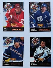 1996-97 Pinnacle Duracell Power Check All Cherry; Coffey Gilmour McSorely Hunter