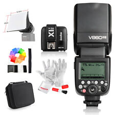 Godox Camera Flash V860IIS +TTL Trigger X1T-S +Pergear Bag for Sony DSLR