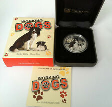 2011 $1 Working Dogs Border Collie Sheep Dog 1oz Silver Proof Coin No. 1166