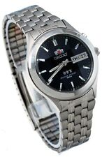 Orient BEM5V002D Men's 3 Star Faceted Crystal Blue Dial Automatic Watch