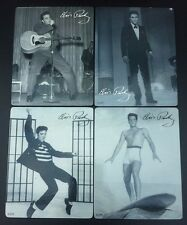 4 Elvis Presley Vintage Photo Coasters Jailhouse Rock Surfing Guitar On Stage