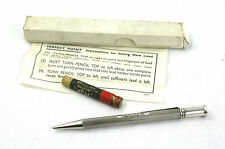 Sterling Silver Propelling Pencil Engine Turned Boxed Instructions & Lead 1960