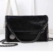Women Handbags PU Leather Shoulder Bag Chain Woven Messenger Bag Tote Purse New