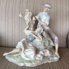 LLADRO... LOVERS RESTING IN THE WOODS ... BEAUTIFUL... LARGE