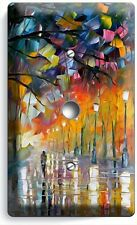 RAINY DAY ABSTRACT PAINTING LIGHT DIMMER CABLE WALL PLATE COVER ART STUDIO DECOR