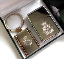 UK POLICE FORCE Silver Cigarette Lighter Keyring Luxury Gift Case CID DETECTIVE