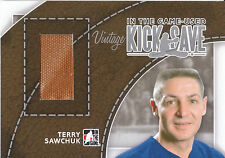 13/14 IN THE GAME USED ITGU KICK SAVE VINTAGE PAD TERRY SAWCHUK /9 *4952