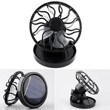 The New Black Mini Clip Solar Panels Cooling Unit Cooling Fan Tourist CampingHot