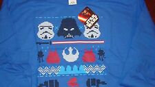 Official Star Wars, Jumper/sweater /top/sweatshirt, Blue,x.large,New