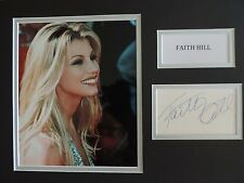 FAITH HILL - COUNTRY / POP MUSIC - SUPERB SIGNED DISPLAY - COA