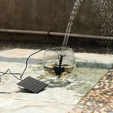 SOLAR POWERED FOUNTAIN POND GARDEN WATER PUMP PLANT SPRINKLER PANEL